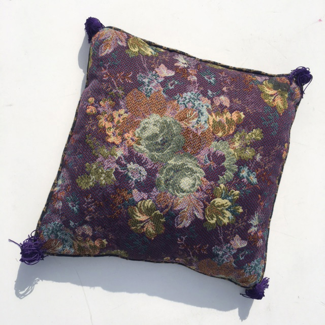 CUS0211 CUSHION, Tapestry - Purple Floral $10