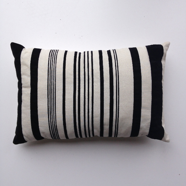CUS0099 CUSHION, Black White Stripe $10