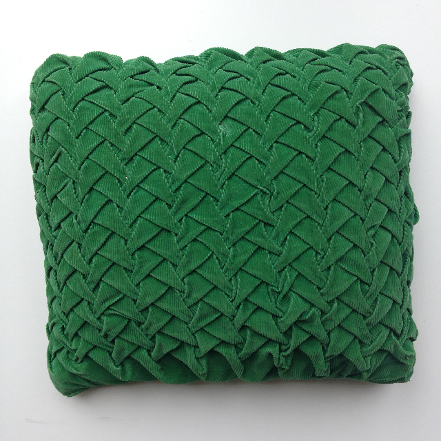 CUS0136 CUSHION, Green Pintuck $15