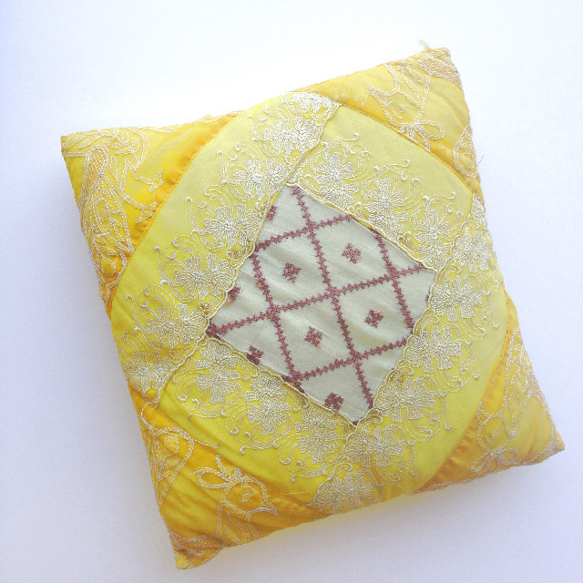 CUS0149 CUSHION, Indian - Yellow $10