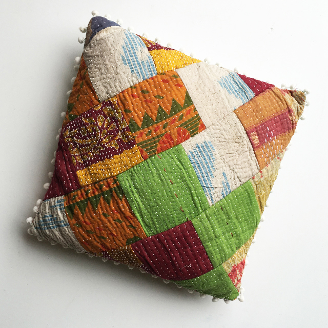 CUS0153 CUSHION, Indian Patchwork $10