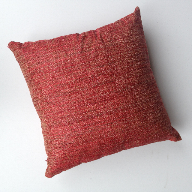 CUS0165 CUSHION, Orange Linen Blend $10