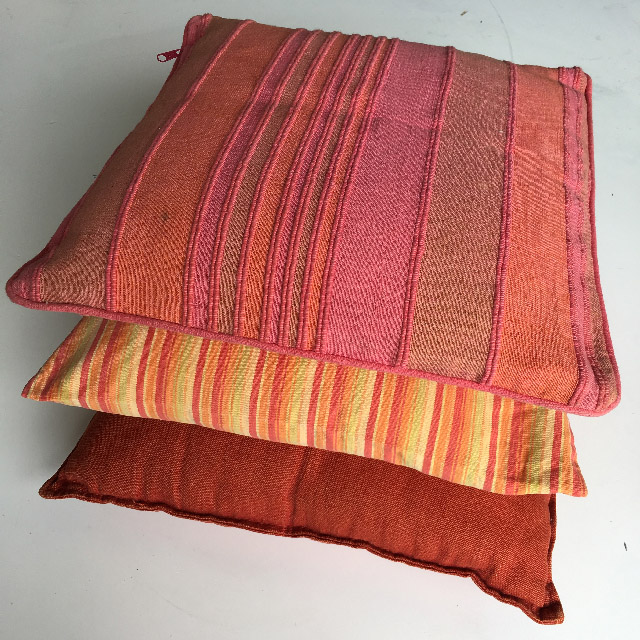 Collection of Orange and Pink Mexican Cushions - Event Styling