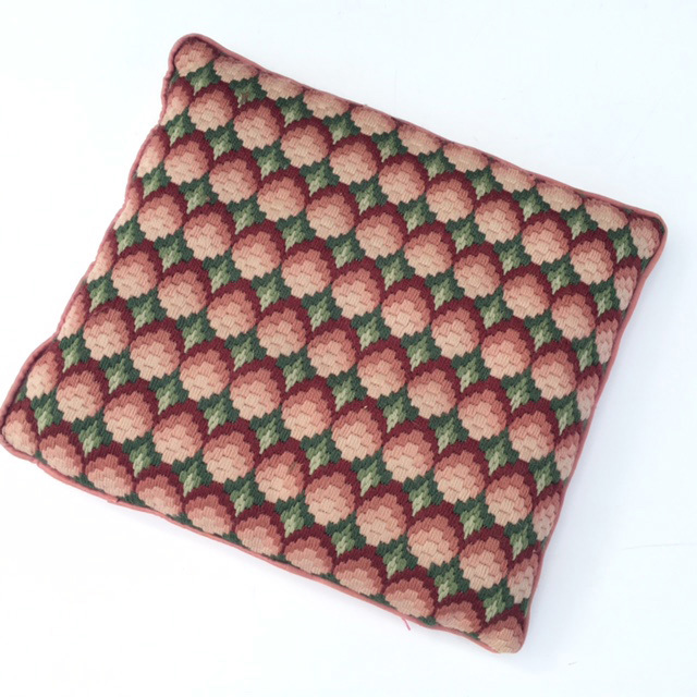 CUS0170 CUSHION, Pink Green Pattern $10