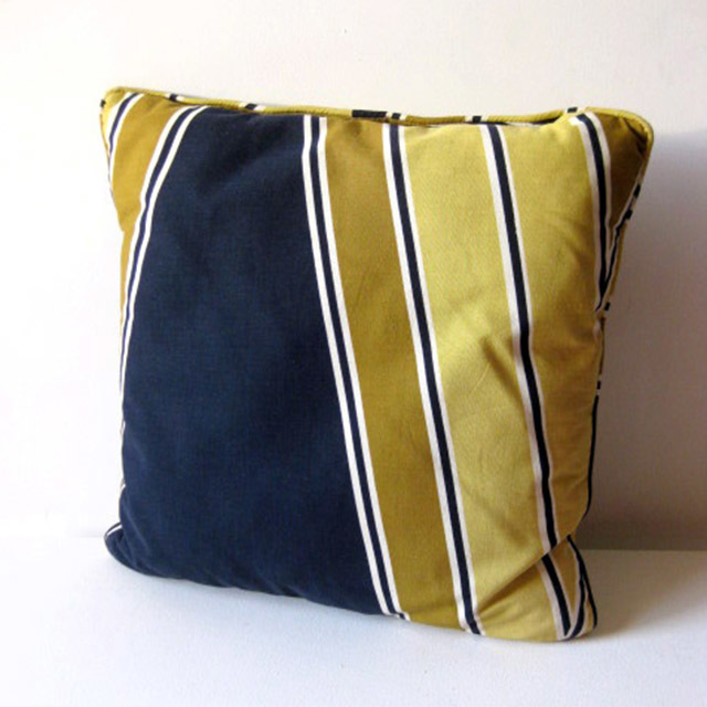 CUS0120 CUSHION, Blue Yellow Stripe $10