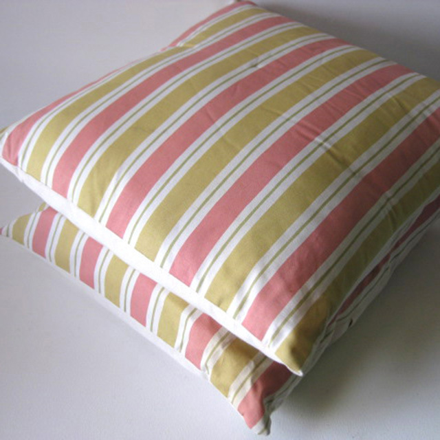 CUS0203 CUSHION, Stripe - Pink Mustard Yellow $10