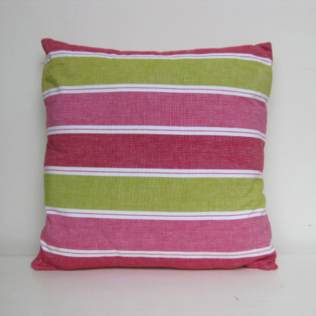 CUS0202 CUSHION, Stripe - Pink & Green 40cm $10