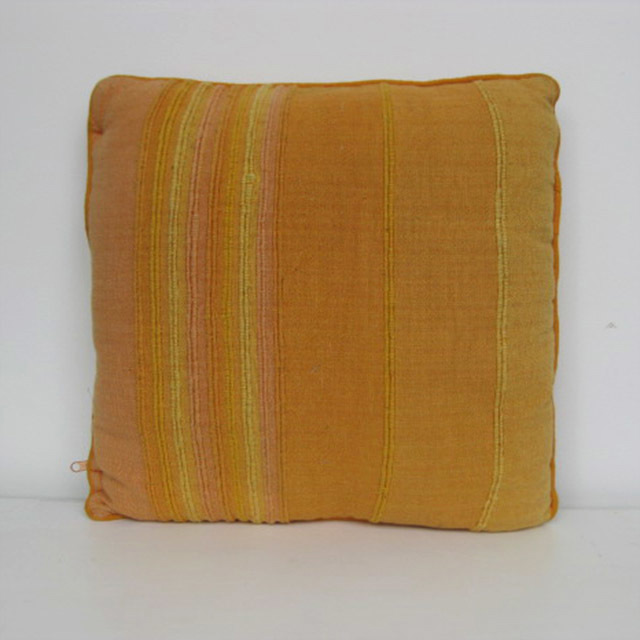 CUS0228 CUSHION, Yellow Self Stripe $10