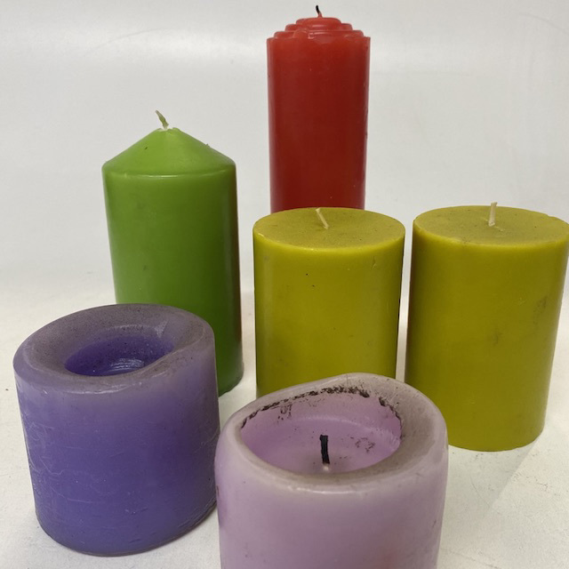 CAN0090 CANDLE, Assorted Coloured $1.25