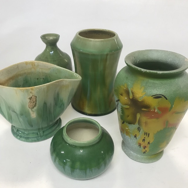 Australian Pottery and Plaster Vase Collection