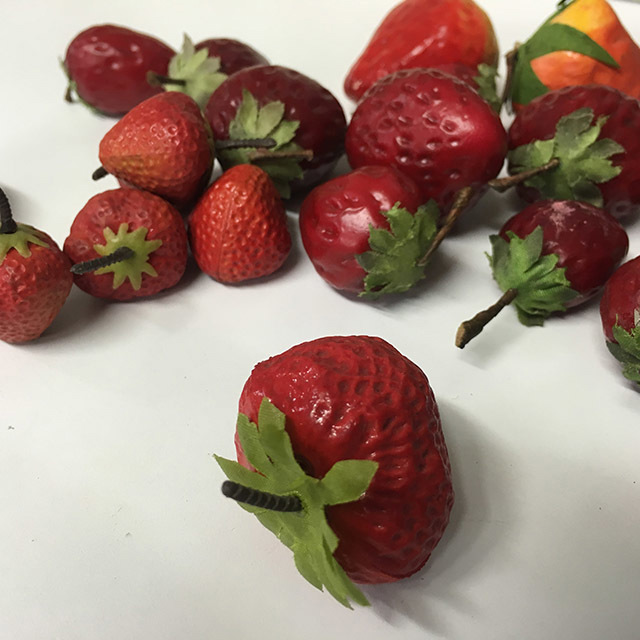 FRU0025 FRUIT, Artificial - Strawberry (Price Per Punnet) $2