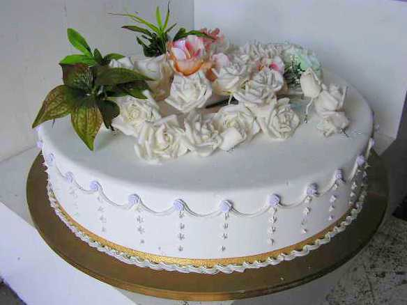 CAK0011 CAKE, Artificial - Base Tier of Wedding Cake $30