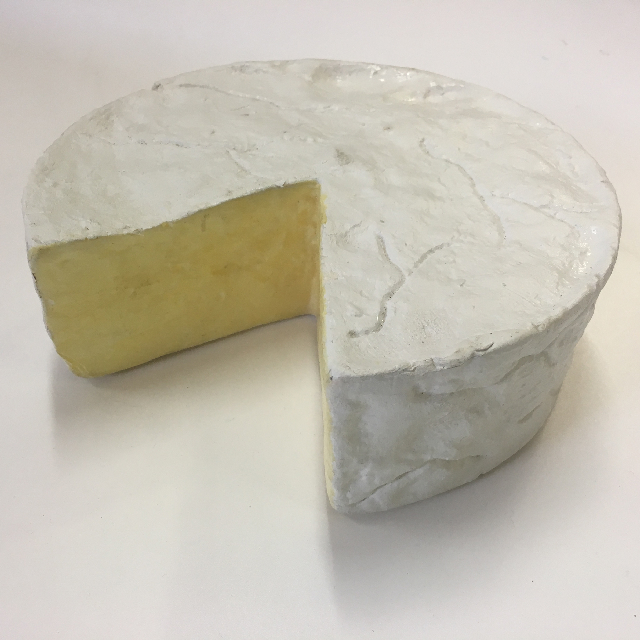 CHE0052 CHEESE, Artificial Brie Wheel 30cm Dia $7.50