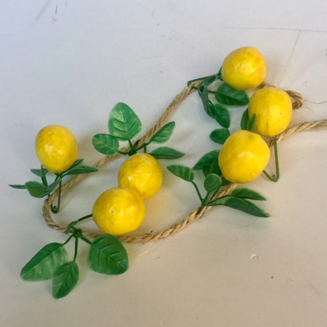 FRU0030 FRUIT, Artificial - String of Lemons $3.75
