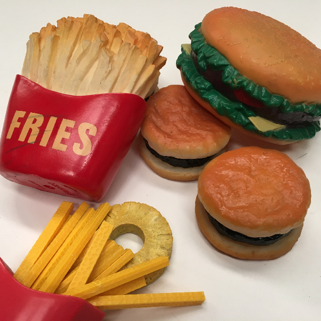 FAS0001 FAST FOOD, Novelty Burger / Fries - Lifesize $3.75