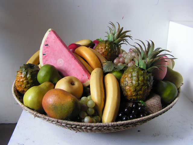 FRU0015 FRUIT, Artificial - Tropical Fruit Basket $45
