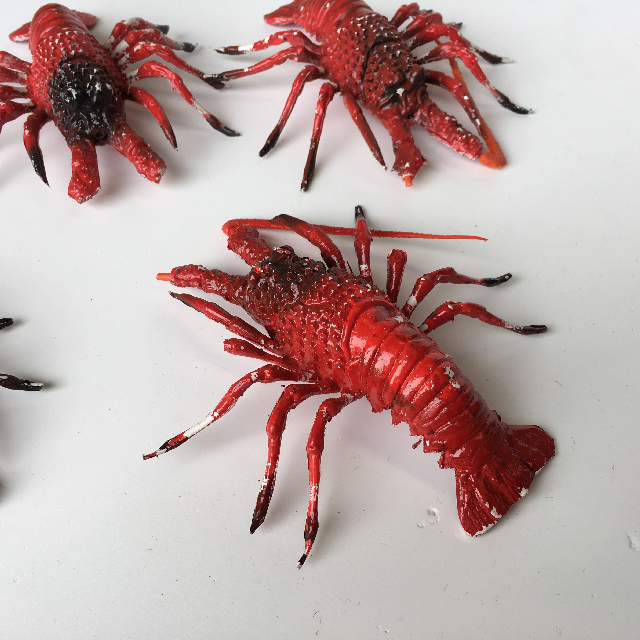 SEA0012 SEAFOOD, Artificial - Lobster/Crayfish Small Red $3.75