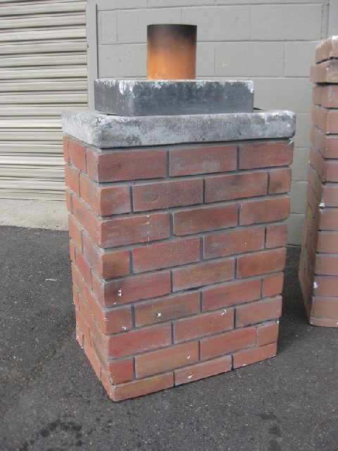 CHI0050 CHIMNEY, Squat - Styrene Replica Brick $75