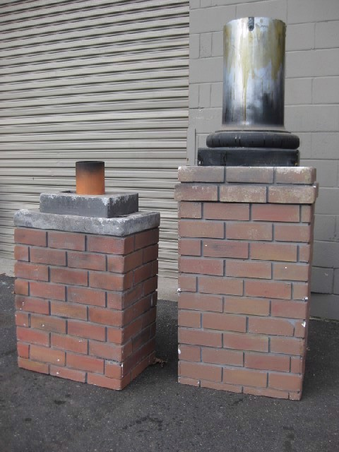 CHI0051 CHIMNEY, Tall - Styrene Replica Brick $75