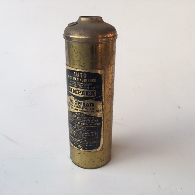FIR0018 FIRE EXTINGUISHER, Small Brass Simplex $6.25