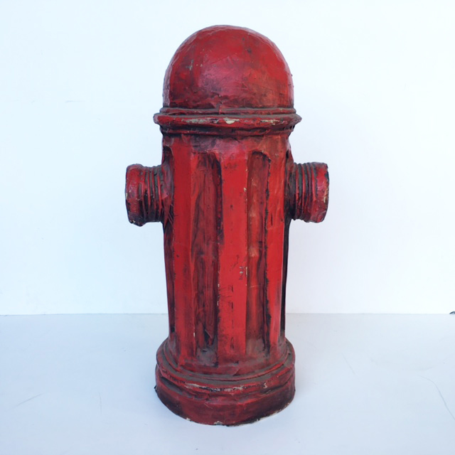 HYD0002 HYDRANT, Fire - USA Red Papier Mache 60cm H $50