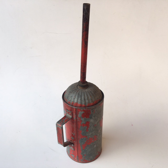 CAN0306 CAN, Fuel Can - Aged Red Metal $11.25