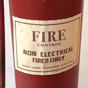 FIR0017 FIRE EXTINGUISHER, Red Simplex (Label)