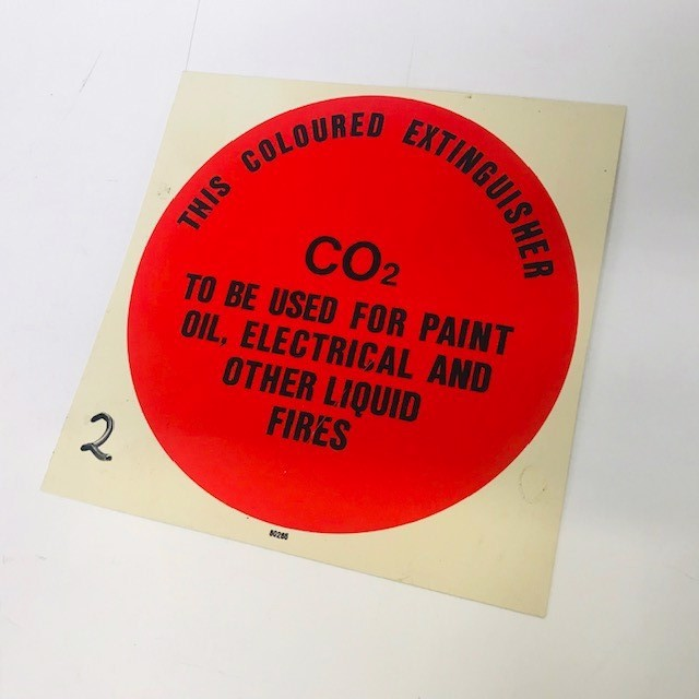 SIG0691 SIGN, Safety - Fire Extinguisher Sign CO2 $3.75