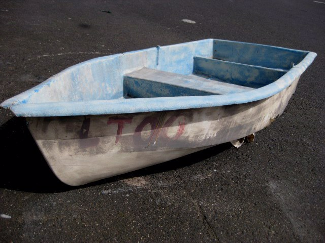 BOA0001 BOAT, Small Fibreglass Row Boat, 2.6m - Blue & White $125