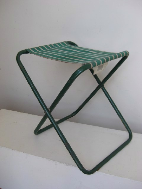 STO0200 STOOL, Camp - Folding Green & White, Aluminium $8.75