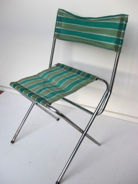 STO0202 STOOL, Camp - Folding (with Back) Green Mesh, Aluminium $12.50