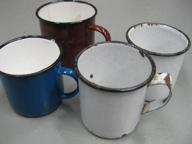 MUG0002 MUG, Enamel - Assorted Mug or Cup $1.25
