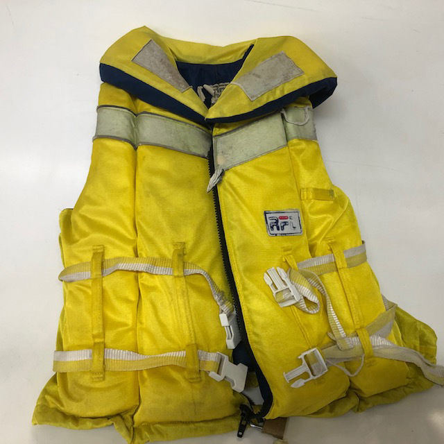 LIF0020 LIFE JACKET, RFD w Neck Cushion - Adult Ex Small Yellow $12.50