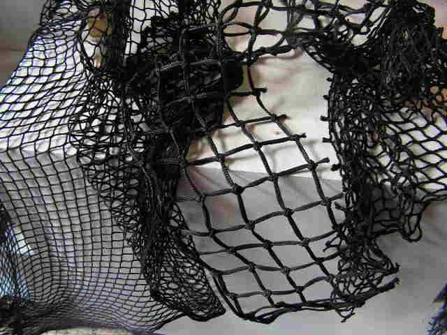 FIS0010 FISHING NET, Black Assorted Small Pieces $2.50