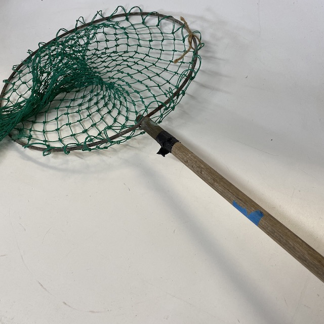 NET0011 NET, (Fishing) Long Wooden Handle and Green Net $15