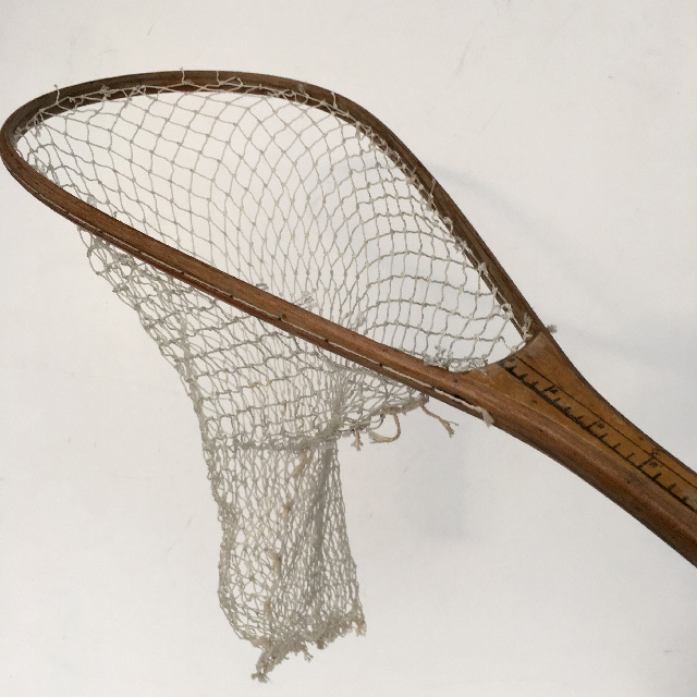 NET0008 NET, Vintage (Fishing) Short Wooden Handle $15