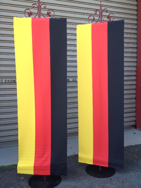 BAN0105 BANNER, Hanging German Flag 60x180cm $37.50