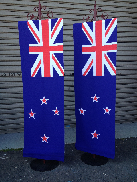 BAN0106 BANNER, Hanging New Zealand Flag 60x180cm $37.50