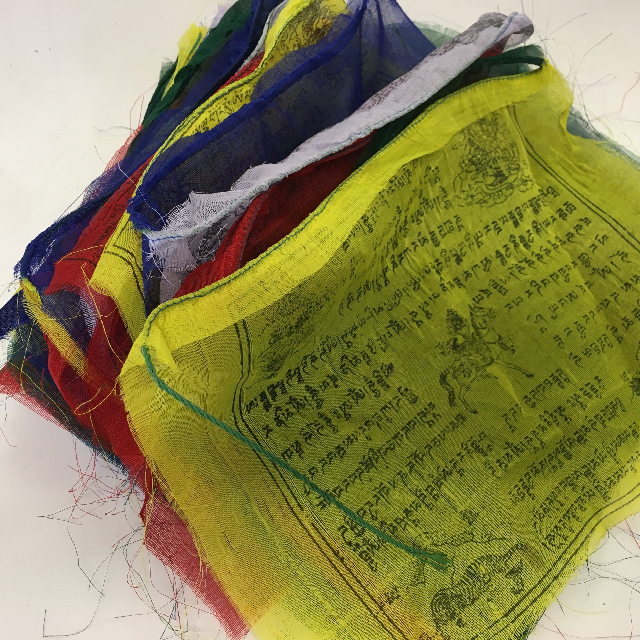 BUN0029 BUNTING, Tibetan Prayer Flags - 25 Flags 32cm x 35cm x 8m length $5