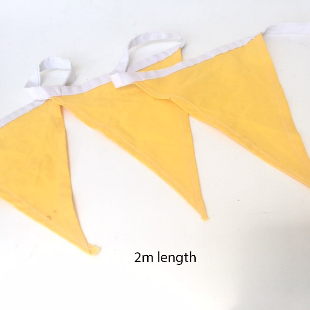 BUN0014 BUNTING, Yellow Flags - 2m Length $5