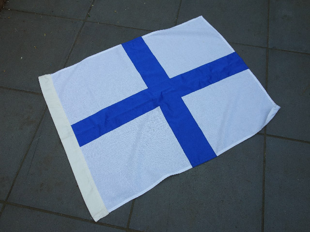 FLA0012 FLAG, Finnish - 75cm x 1m Thick Cotton $25