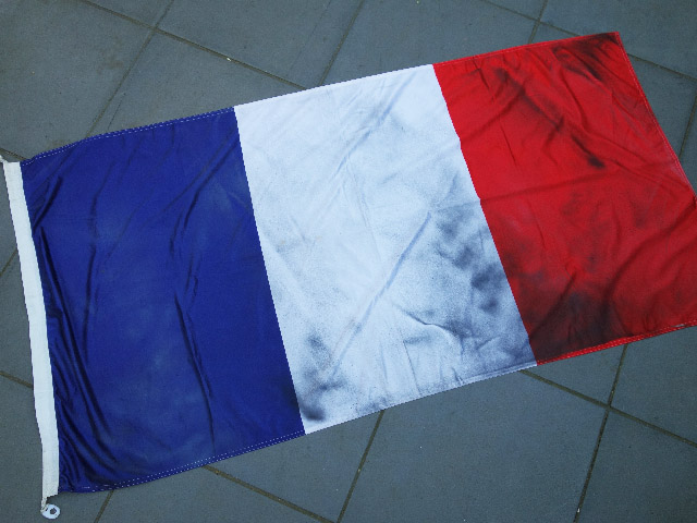 FLA0013 FLAG, French - 90cm x 180cm Cotton Aged $37.50