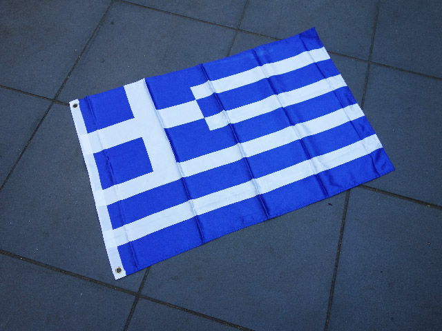 FLA0025 FLAG, Greek - 60cm x 90cm Polyester $7.50