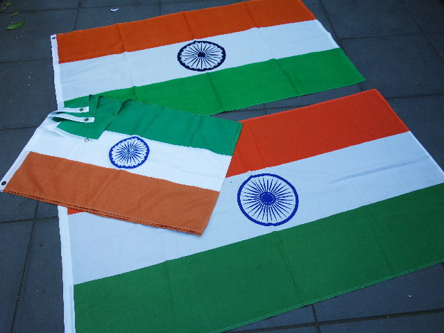 FLAG, Indian - (FLA0027) 90cm x 150cm $13.75 & (FLA0028) 60cm x 90cm $6.25
