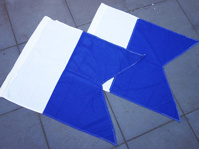FLA0037 FLAG, Parade Flag - Blue White 75cm x 110cm Cotton $30