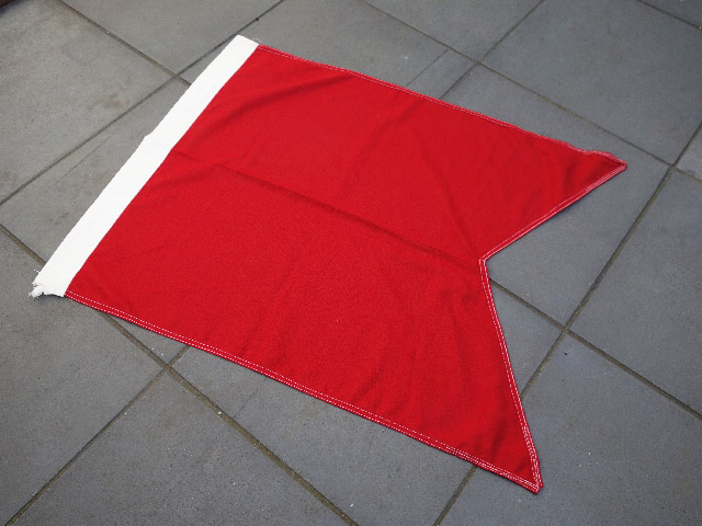FLA0038 FLAG, Parade Flag - Red White 75cm x 110cm Cotton $30