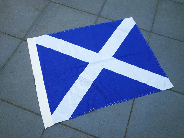 FLA0041 FLAG, Scottish - 75cm x 1m Thick Cotton $25