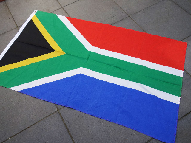 FLA0042 FLAG, South African - 90cm x 150cm Polyester $13.75