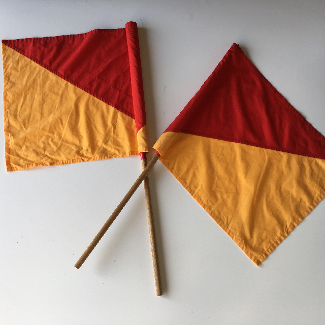 FLA0020 FLAG, Surf Lifesaving Handheld (Short Poles) $12.50