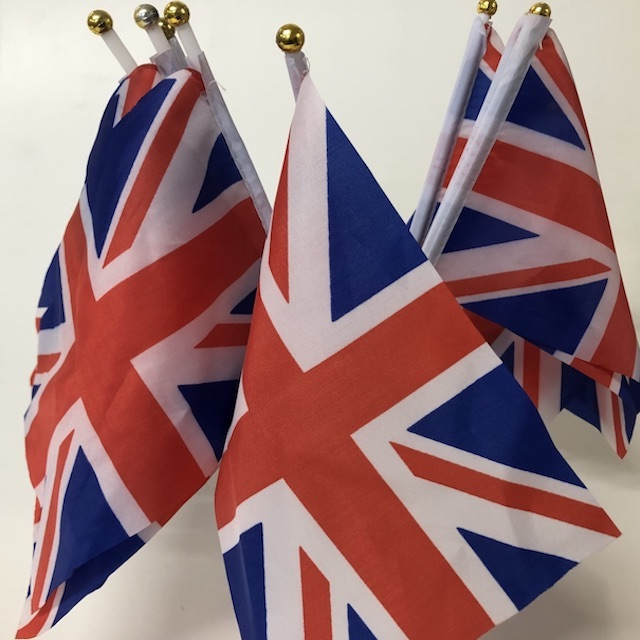 FLA0185 FLAG, Handwaver - British Union Jack (30 x 15cm) $1.25